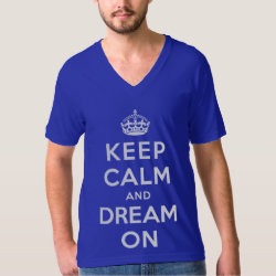 Men's American Apparel Fine Jersey V-neck T-Shirt with Keep Calm and Dream On design