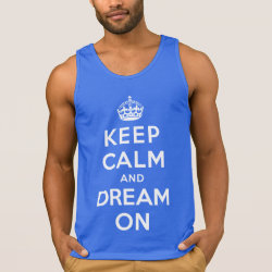 Men's Ultra Cotton Tank Top with Keep Calm and Dream On design