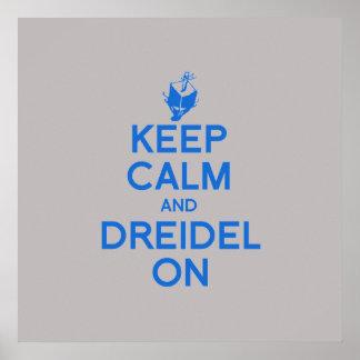 KEEP CALM AND DREIDEL ON PRINT