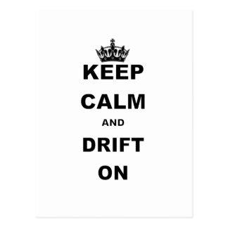 KEEP CALM AND DRIFT ON POSTCARD