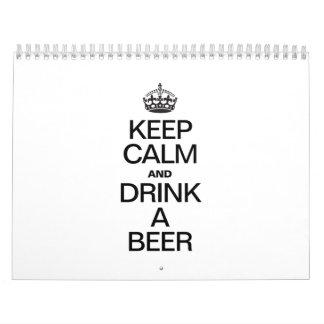 KEEP CALM AND DRINK A BEER CALENDAR
