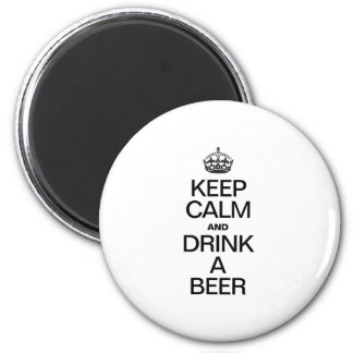 KEEP CALM AND DRINK A BEER FRIDGE MAGNETS