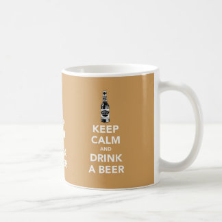 Keep calm and drink a beer x3 images mug