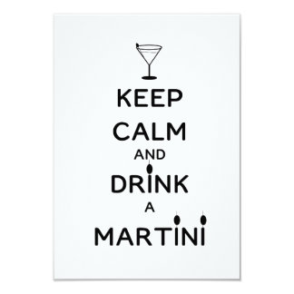 Keep Calm and Drink A Martini Card