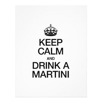 """KEEP CALM AND DRINK A MARTINI 8.5"""" X 11"""" FLYER"""