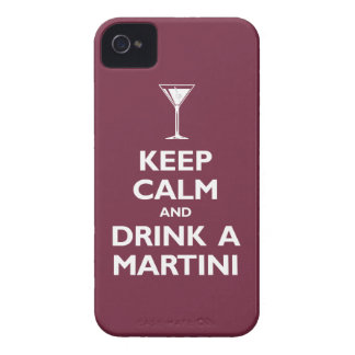 Keep Calm and Drink A Martini (merlot) iPhone 4 Case