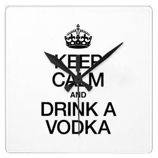 KEEP CALM AND DRINK A VODKA WALLCLOCKS