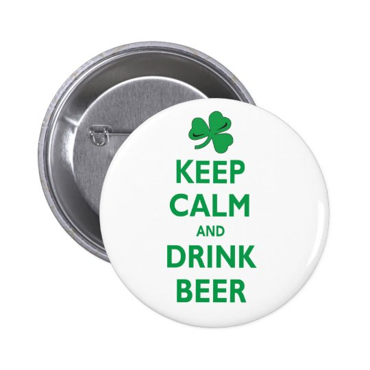 Keep Calm and Drink Beer Button