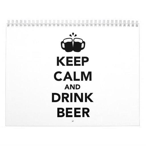 Keep calm and drink beer calendar