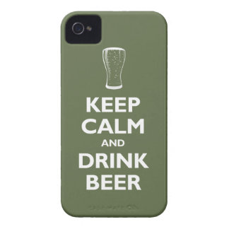 Keep Calm and Drink Beer (olive) Case-Mate iPhone 4 Case
