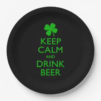 Keep Calm And Drink Beer Paper Plate