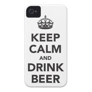 Keep Calm And Drink Beer Phrase Case-Mate iPhone 4 Cases
