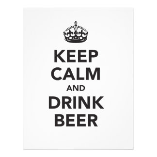 Keep Calm And Drink Beer Phrase Letterhead