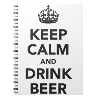 Keep Calm And Drink Beer Phrase Notebook