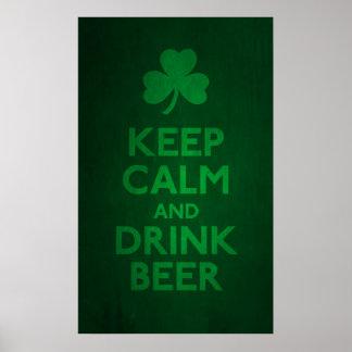 Keep Calm and Drink Beer Print