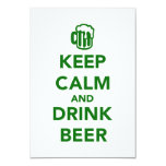 Keep calm and drink beer St. Patricks day Card