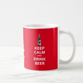 Keep calm and drink beer x3 image mug