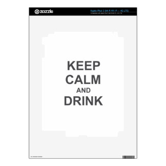 Keep Calm and Drink black blue gray iPad 3 Decals