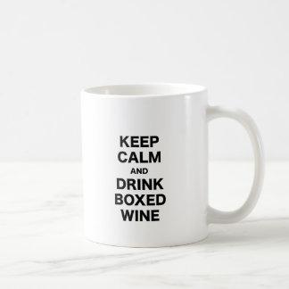 Keep Calm and Drink Boxed Wine Coffee Mug