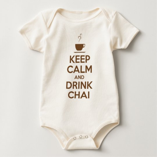 KEEP CALM AND DRINK CHAI BABY BODYSUIT
