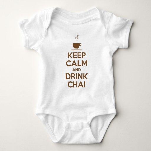 KEEP CALM AND DRINK CHAI TEE SHIRT
