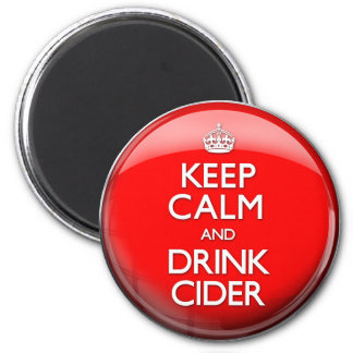 Keep Calm and Drink Cider (Carry On) 2 Inch Round Magnet