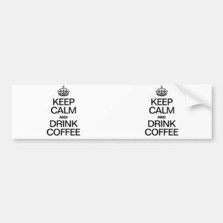 KEEP CALM AND DRINK COFFEE CAR BUMPER STICKER