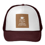 Keep Calm and Drink Coffee Gift Items Mesh Hats