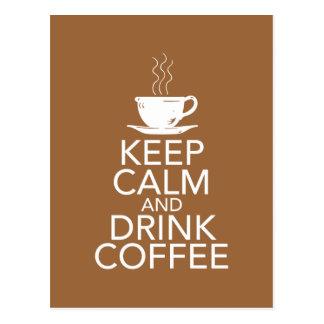 Keep Calm and Drink Coffee Gift Items Postcard