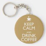 KEEP CALM AND DRINK COFFEE KEY CHAIN
