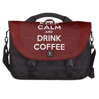 Keep Calm and Drink Coffee Laptop Bag
