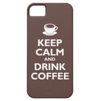 Keep Calm and Drink Coffee (mocha) iPhone 5 Covers