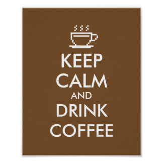 Keep calm and drink coffee poster | Cafe decor