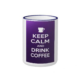 Keep calm and drink coffee ringer coffee mug