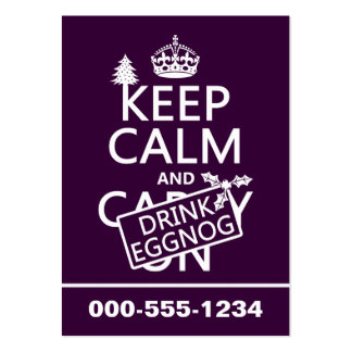 Keep Calm and Drink Eggnog customize colors Business Card
