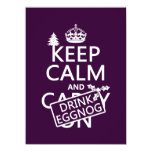 Keep Calm and Drink Eggnog (customize colors) 5.5x7.5 Paper Invitation Card