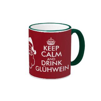 Keep calm and drink Glühwein Christmas mug