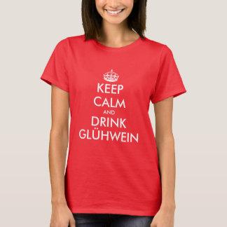 Keep Calm and drink Glühwein Christmas t shirt