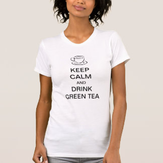 Keep calm and drink green tea t shirt