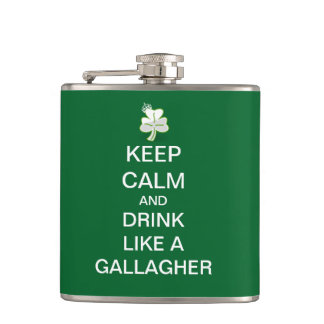 Keep Calm and Drink Like A Gallagher Hip Flask