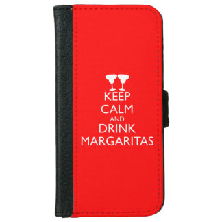 KEEP CALM AND DRINK MARGARITAS WALLET PHONE CASE FOR iPhone 6/6S