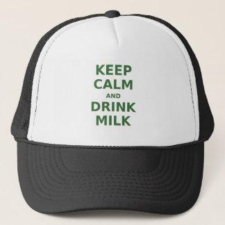 Keep Calm and Drink Milk Trucker Hat