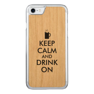 Keep Calm and Drink On Beer Soda Root Beer Lovers Carved iPhone 8/7 Case