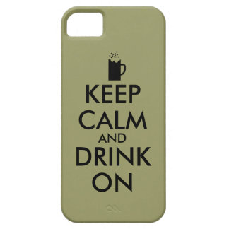 Keep Calm and Drink On Beer Soda Root Beer Lovers iPhone 5 Case