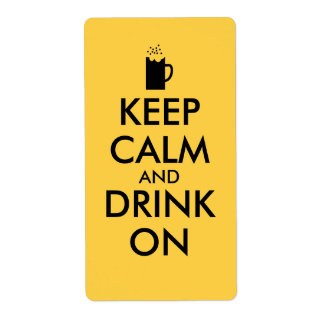 Keep Calm and Drink On Beer Soda Root Beer Lovers Label