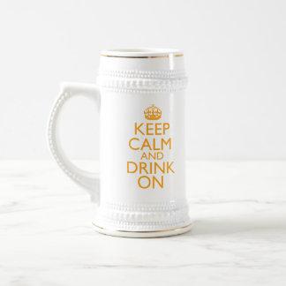 Keep Calm and Drink On Beer Stein 18 Oz Beer Stein