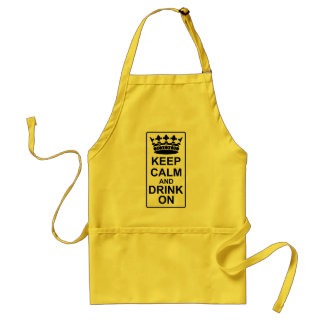 Keep Calm and Drink On - British Government Parody Adult Apron