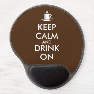 Keep Calm and Drink On Coffee Tea Customizable Gel Mouse Pad