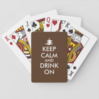 Keep Calm and Drink On Coffee Tea Customizable Playing Cards
