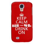 Keep Calm and Drink On (customisable colours) Galaxy S4 Cases